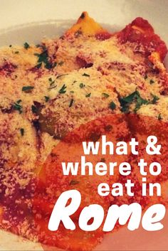 Where to eat in Rome and what to eat in rome! Your rome travel blog guide on the best food in Rome!