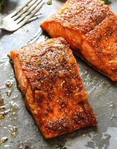 Cajun Baked Salmon Will Cook For Smiles. Escapades In Eating: Orange Glazed Cajun Salmon. Home and Family Cajun Salmon, Salmon Tacos, Honey Salmon, Garlic Salmon, Glazed Salmon, Sockeye Salmon Recipes, Baked Salmon Recipes, Seafood Dishes, Seafood Recipes