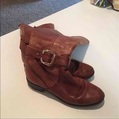 Antonio Melani Knee High Boots Real leather • sz 7 • knee high • boots • brown • see heels (pictured) • ANTONIO MELANI Shoes Over the Knee Boots