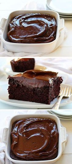 Seriously decadent chocolate cake that satisfy's every craving.: Seriously decadent chocolate cake that satisfy's every craving. Decadent Chocolate Cake, Decadent Cakes, Craving Chocolate, Sour Cream Chocolate Cake, Chocolate Cake Frosting, Simple Chocolate Cake, Chocolate Bars, Chocolate Pudding, Easy Chocolate Desserts