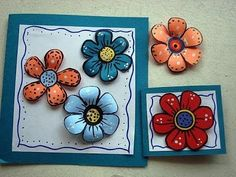 DIY colorful paper flowers for scrapbooking or card making