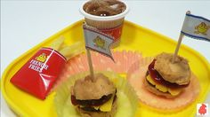 ToyCheff cook Hamburger doll play icecream disney dog animal egg surpris...