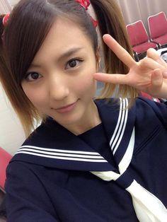 真野恵里菜 Mano Erina #ツインテール #制服