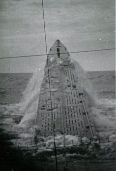 U-237 breaching the surface North Atlantic 1942.