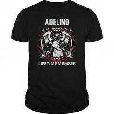 Awesome Tee  ABELING FAMILY LIFETIME MEMBER T-SHIRT T-Shirts #tee #tshirt #named tshirt #hobbie tshirts #abeling