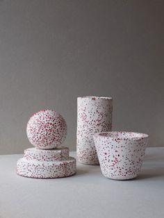 Obj nº10,11,12&13-Red stones- de Los Objetos Decorativos www.losobjetosdecorativos.com