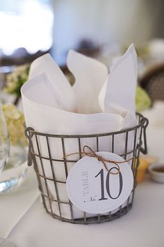 Table numbers / Bread for sharing. BYT Beach wedding 2012