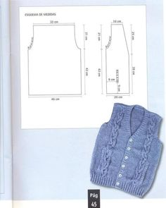 Knitting men sweater pattern baby boy 42 Ideas for 2019 Crochet Baby Jacket, Crochet Vest Pattern, Knitted Baby Cardigan, Crochet Baby Booties, Diy Crafts Knitting, Loom Knitting Projects, Easy Knitting, Knitting For Kids, Baby Knitting Patterns