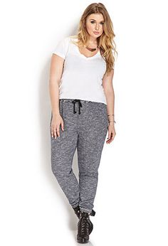 Day-Off Heathered Sweatpants | FOREVER21 PLUS - 2000062010