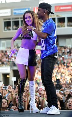 Spring fling: The entertainers performed together at the KIIS FM Wango Tango in LA on May 10
