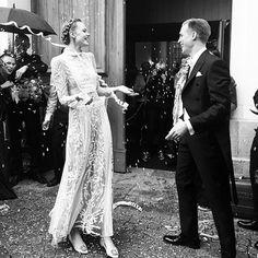 Frida Gustavsson in a dreamy Valentino wedding dress