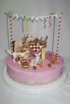 Torta  Picnic Animalitos 100 % Comestible.