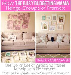 The Busy Budgeting Mama - photo wall