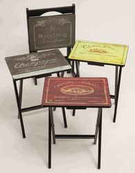 Wine TV Trays - Wine Label TV Trays & Wine Label Snack Tables