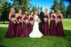 Wedding, Bridesmaids, Purple - Photo by Studio 6 Photography - Project Wedding Maroon Wedding, Burgundy Wedding, Fall Wedding, Wedding Gowns, Wedding Parties, Ivory Wedding, Wedding Wishes, Wedding Bells, Dream Wedding