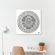 Discover «5 Kopeck, 1924, Reverse Side Of Soviet Union Coin», Limited Edition Canvas Print by Artur Borisov - From $79 - Curioos