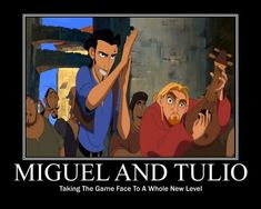"Tulio's game face isn't even that impressive. But Miguel's just over here like ""DO. NOT. MESS WITH US!"""