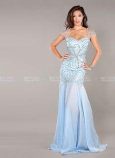 Vestido de festa longo sereia com pedrarias Genevive 7007 : Dstore Miami, Vestidos de Festa Importados