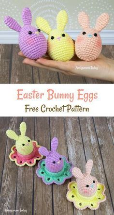 Free easter crochet patterns the best collection crochet easter bunny eggs free crochet pattern Poppy Crochet, Bag Crochet, Crochet Gifts, Cute Crochet, Crochet Dolls, Crochet Baby, Crochet Baskets, Crochet Easter, Easter Crochet Patterns