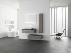 Design badkamermeubel met een opbouwwastafel. Prachtig in de moderne badkamer. Badmeubel is Thebalux Stone Type 4