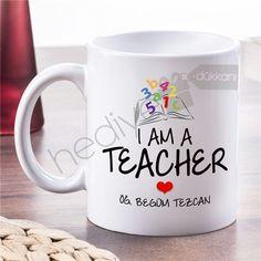 Öğretmene Hediye İsim Yazılı Kupa Bardak