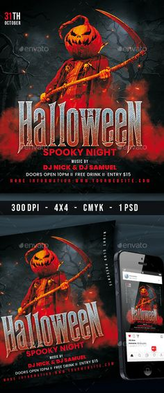 Halloween Party Flyer by OrelArt | GraphicRiver