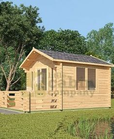 "Micro Log Cabin x ""Faversham"" Cabin Porches, Front Porches, Camping Pod, Cottage Porch, Kitchen Size, Window Sizes, Bedroom Size, Little Cabin, Tiny House Cabin"