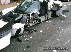 Tesla Roadster crashed in Santa Monica, California