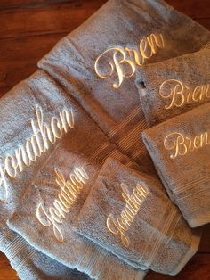 A personal favorite from my Etsy shop https://www.etsy.com/listing/488641906/oversized-set-of-monogrammed-towels