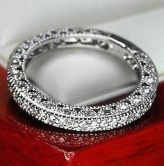 Vintage Genuine Diamond Wedding Band Ring
