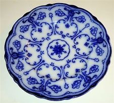 EARLY Antique CONWAY England FLOW BLUE Porcelain PLATE! NR!