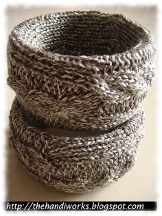 Stylish Bangles - it would be cool to make these from an old sweater you don't wear anymore.
