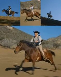 Jess Harper riding collage