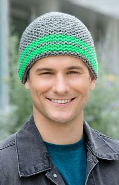 Comfy Cozy Hat Free Knitting Pattern from Red Heart Yarns