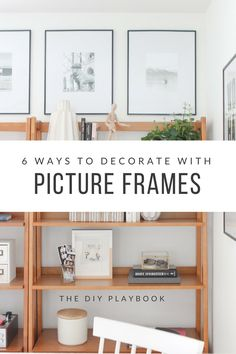 We love decorating with picture frames and there are so many ways to add this piece of decor to your home! Come check out these 6 ways to decorate with picture frames in your house.