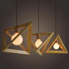 Dekin luz de techo de diseño de madera hogar para Foyer estudio dormitorio decoración interior iluminación E27 220 V de la lámpara colgante(China (Mainland))