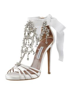 Chandelier Crystal Sandal by Tabitha Simmons at Bergdorf Goodman.