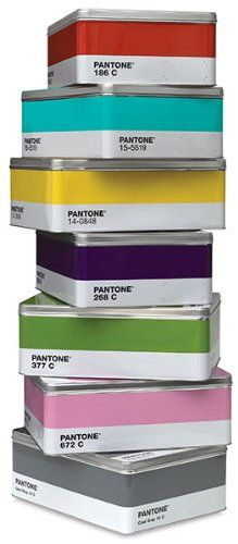 Pantone Metal Storage Boxes -  Who says storage can't be fun and colorful?  #pantone