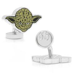 Yoda typography cufflinks