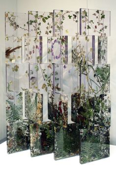 This would be rad to make with thin sheets of acrylic, hinges, pressed flowers and leaves for room divider. Sunroom Articulating screen by Sasha Sykes , Ireland . Acrylic and resin . Resin Crafts, Resin Art, Resin Sculpture, Acrylic Resin, Art Crafts, Clear Acrylic, Sculptures, Vitrine Design, Diy Tumblr