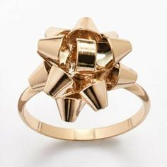 Lauren Conrad Gold Tone Bow Ring