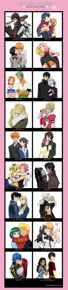 I would trade out some of those couples for others, but hey, there're some good ones on here, like SoMa, and Kyo x Tohru