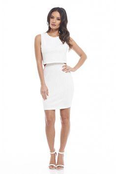 White Lace Double Layer Mini Dress | USTrendy #lace #whitedresses #minidress www.ustrendy.com #ustrendy