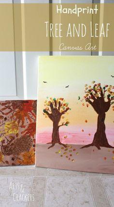Handprint Tree and Leaf Canvas Art Tutorial