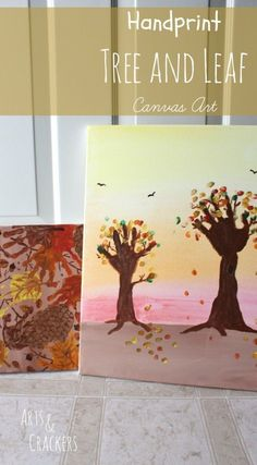 Handprint Tree and Leaf Canvas Art Tutorial