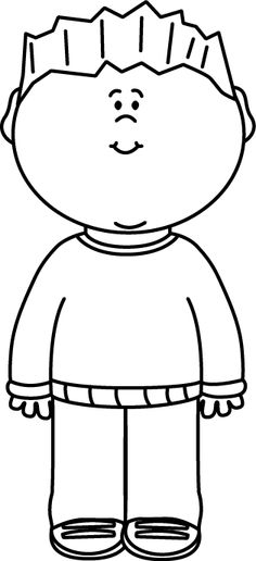 Black & White Boy Wearing a Sweater Clip Art - Black & White Boy Wearing a Sweater Image White Boys, Black And White, Graphic Sweaters, Outline Drawings, Boys Wear, Bible Crafts, Drawing For Kids, Digital Stamps, Classroom Activities