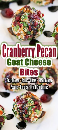 This easy recipe Cranberry Pecan Goat Cheese Bites are the perfect slightly sweet, yet savory bite size appetizer. They're delicious all year long, but they're an extra special finger food during the holidays!