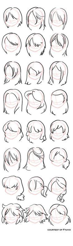 Hairstyles- Straight by ThirdPotato on DeviantArt