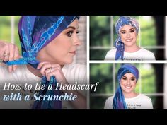 We'll show you the easiest way to tie a square and rectangle headscarf with a scrunchie. Let us know in the comments which scarf you'll try first and what yo. Hair Scarf Styles, Long Hair Styles, Ways To Tie Scarves, Losing Hair Women, Forehead Headband, Head Scarf Tying, African Head Wraps, Scarf Hairstyles, Great Hair