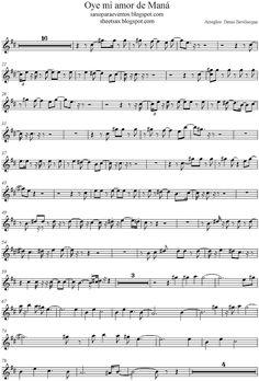 Pista y partitura del tema Oye mi amor de Maná   Partituras y pistas para saxo   Sheet music and Play Along for sax Violin Music, Cello, Sheet Music, Pista, Play, Violin, Amor, Free Sheet Music, Music Notes